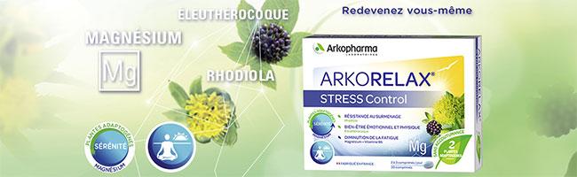 Compléments alimentaires Arkorelax Stress Control gratuits