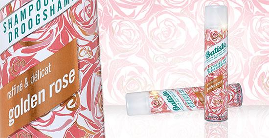 Shampoing sec Batiste Golden Rose à tester