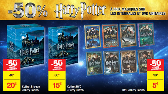 Promo Carrefour : DVD et coffrets Harry Potter