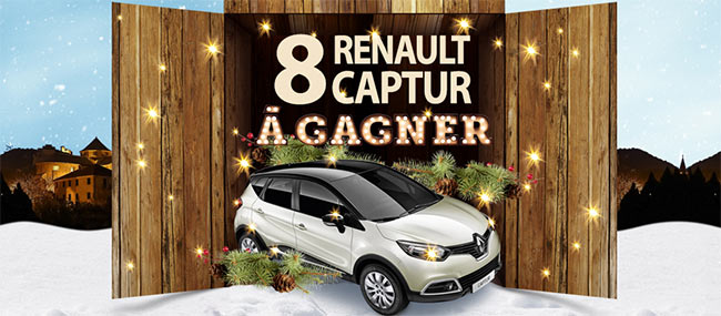 8 voitures Renault Captur Zen Energy à gagner