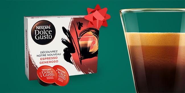 Coffret dégustation Dolce Gusto offert par Nescafé