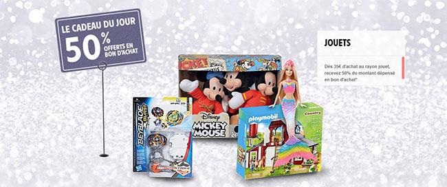 Intermarché : Bon d'achat de 50% offert dès 35€ de jouets