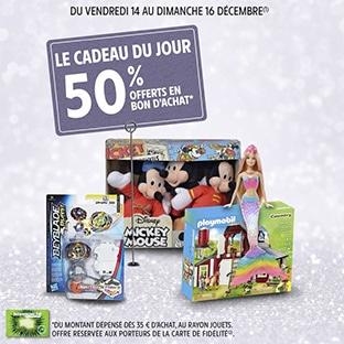 Intermarché Jouets de Noël : 50% offerts en bon d'achat dès 35€