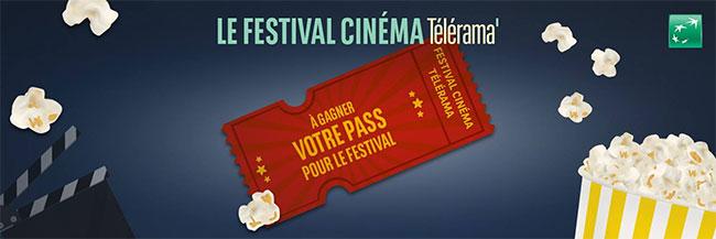 Gagnez votre place pour le Festival Cinéma Télérama