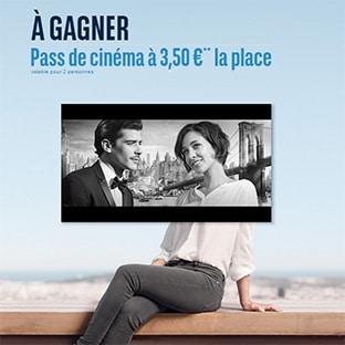 Jeu BNP Paribas : 20'000 pass cinéma Télérama à 3.5€ à gagner