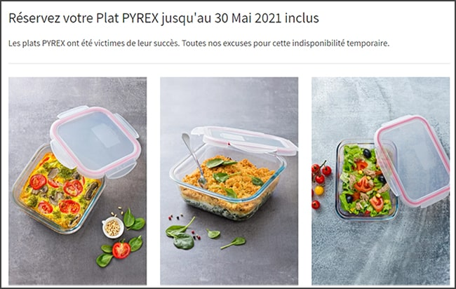 Les plats Pyrex d'Intermarché sont en rupture de stock