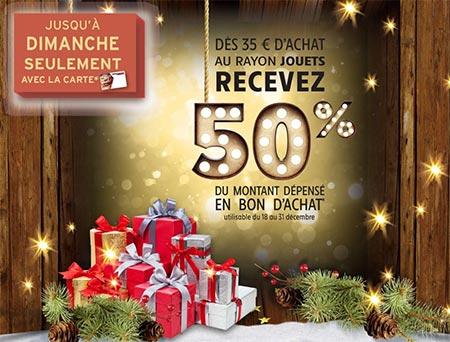 Noël Intermarché : Bon d'achat de 50% offerts