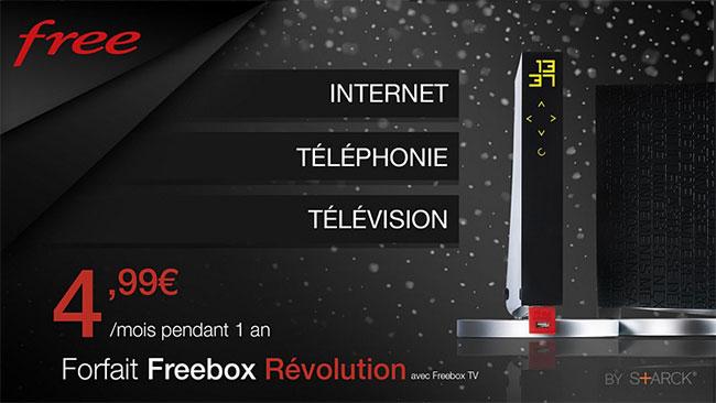 Réduction de 86% sur l'abonnement Freebox Révolution