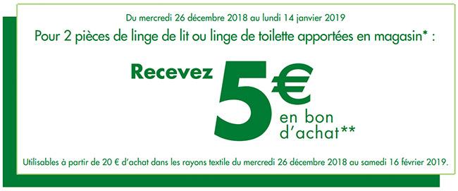 Rapportez vos linges de maison chez Carrefour pour obtenir des bons d'achat