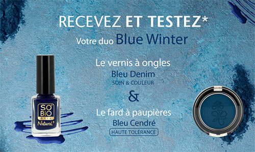 testez l'un des 50 duos Blue Winter de SO'BiO étic