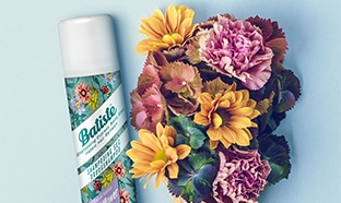 Test shampoing sec Wildflower Batiste : 100 gratuits
