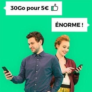 Vente privée Forfait mobile Red SFR 30Go à 5€ par mois à vie