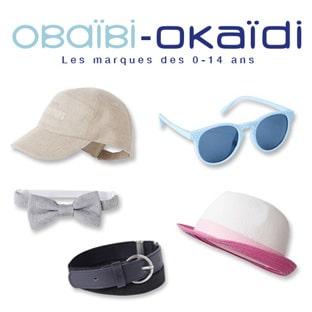 Bon plan Okaïdi : 3 accessoires enfants pour 7€ (ou 5 pour 10€)