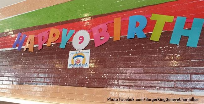 Fêtez l'anniversaire de votre enfant chez Burger King