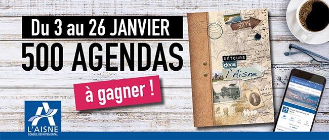 remportez l'un des 500 agendas Détours dans l'Aisne offerts
