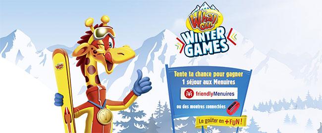 Les cadeaux à gagner au jeu Whaou Wintergames