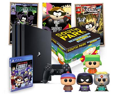 Les cadeaux à gagner au jeu South Park