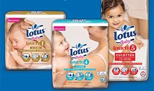 Couches Lotus gratuites : 300'000 paquets offerts à Carrefour