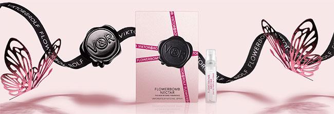 Recevez une dose d'essai du parfum Flowerbomb Nectar de Viktor & Rolf