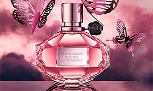 Échantillons gratuits de l'eau de Parfum Flowerbomb Nectar