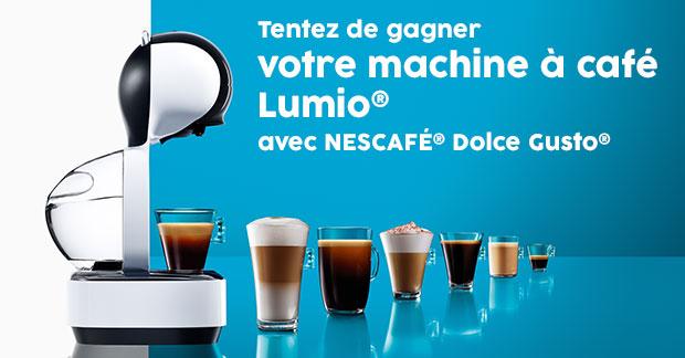 remportez l'une des machines à café Dolce Gusto Lumio