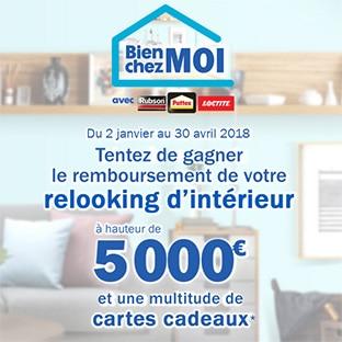 Jeu Bien chez Moi Henkel : 5000€ de travaux et 378 autres lots