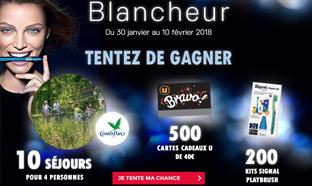 Jeu Blancheur Magasins U : Séjours, kits Signal ... à gagner