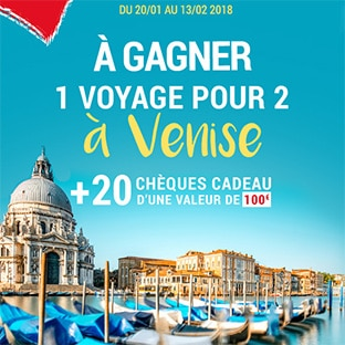 Jeu Stokomani : Voyage à Venise et 20 chèques cadeau de 100€