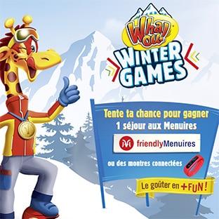 Jeu Whaou Wintergames : 1 séjour et 50 montres connectées