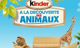 Kinder à la découverte des animaux