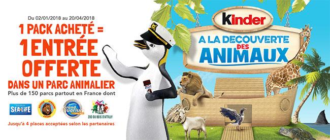 Club Kinder : Places pour des parcs animaliers offertes
