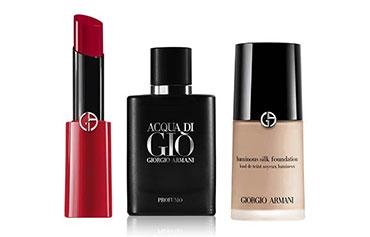 70 sélections de maquillages et parfum Armani