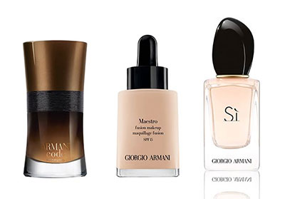 Sélections de parfums et fond de teint Armani