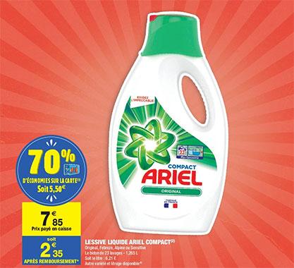 Lessive Ariel Pas Chere 70 Carrefour Et Bon De Reduction