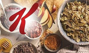 3 paquets de céréales Special K gratuits