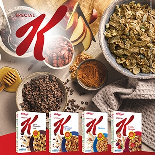 3 paquets de céréales Special K gratuits (remise fidélité & ODR)