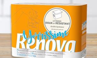 Promo rouleaux de papier WC Renova chez Carrefour
