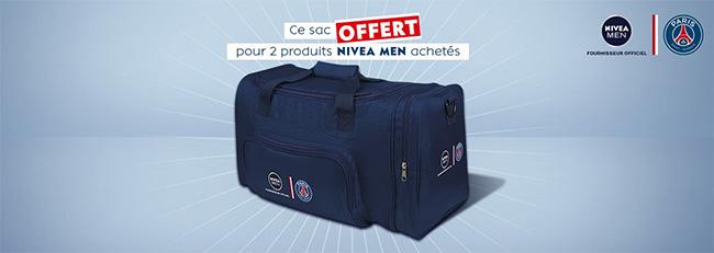 Nivea Men - PSG : 2 produits achetés = 1 sac de sport gratuit