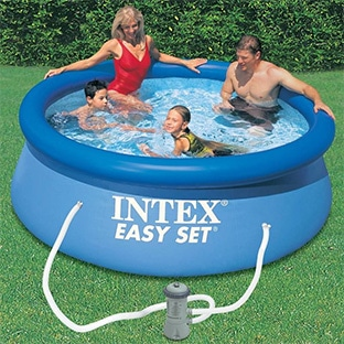 Soldes decathlon kit piscine intex easy set 24 99 50 for Piscine 2m44