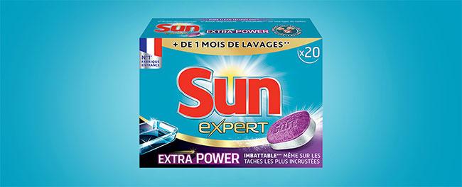 testez les tablettes lave-vaisselle Sun Expert Extra Power