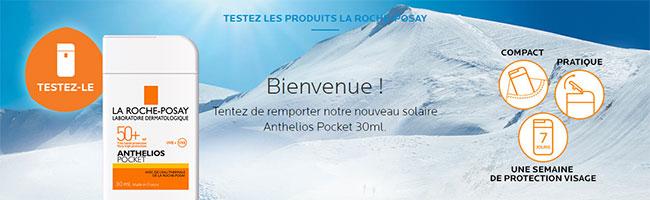 testez la crème solaire Anthelios Pocket de La Roche-Posay