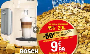 BUT : Machine Tassimo à 9,99€ (29,99€ – 20€ en bon d'achat)