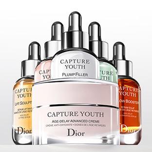 Échantillons gratuits de la routine Capture Youth de Dior