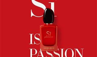 Échantillons gratuits du parfum Giorgio Armani Si Passione