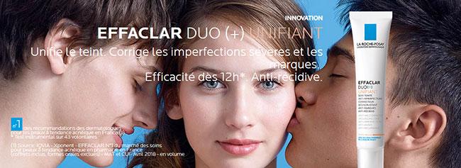 soins Duo+ Unifiant La Roche-Posay Effaclar gratuits à tester