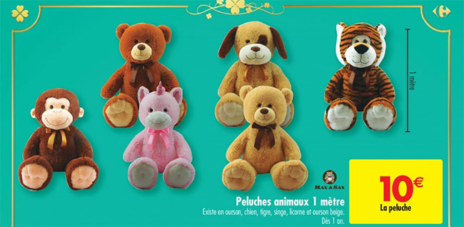 peluche bebe carrefour