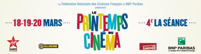 Printemps du Cinéma 2018 : Tarif réduit à 4€ la séance