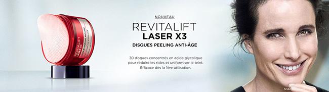 testez les Disques anti-âge Revitalift Laser X3