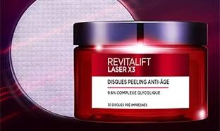 Test L'Oréal : 700 Cures de Disques Peeling Revitalift gratuites