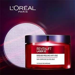 Test L'Oréal : 100 Cures de Disques Peeling Revitalift gratuites